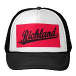 Richland script logo in black trucker hat