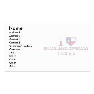 Richland Springs, Texas Business Card