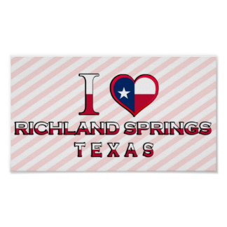 Richland Springs, Texas Poster