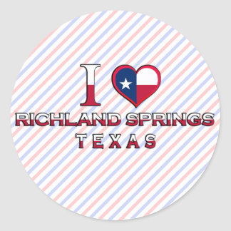 Richland Springs, Texas Round Stickers