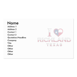 Richland, Texas Business Card Templates