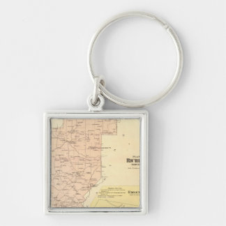 Richland Township Silver-Colored Square Keychain
