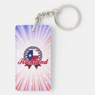Richland, TX Rectangle Acrylic Keychains