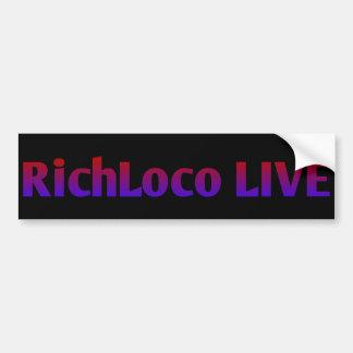 RichLoco LIVE 1st Edition Bumper Sticker
