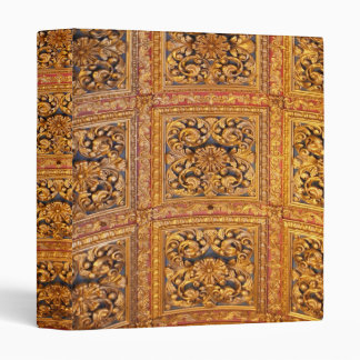 Richly decorated ceiling 3 ring binder