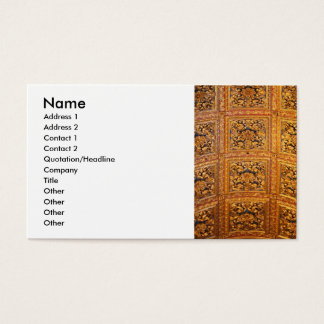 Richly decorated ceiling business card