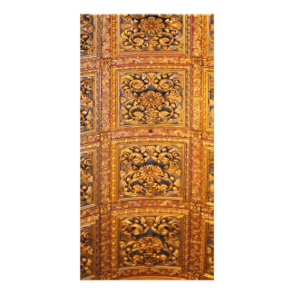 Richly decorated ceiling card