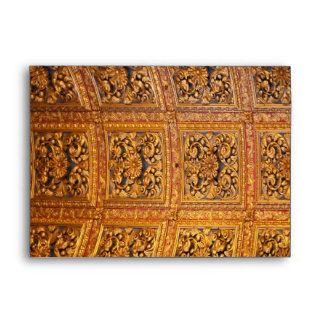 Richly decorated ceiling envelopes