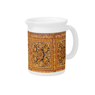 Richly decorated ceiling beverage pitchers