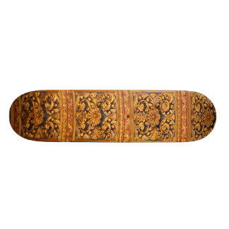 Richly decorated ceiling skateboard