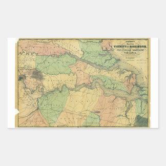 Richmond and Peninsular Campaign in Virginia 1864 Rectangular Sticker
