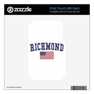 Richmond CA US Flag Skins For iPod Touch 4G
