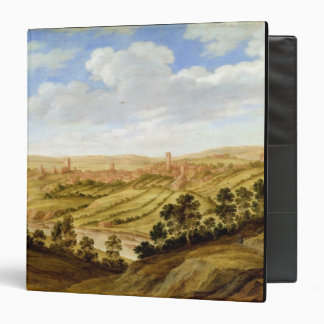 Richmond Castle, Yorkshire, c.1640-41 (oil on pane 3 Ring Binder