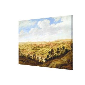 Richmond Castle, Yorkshire, c.1640-41 (oil on pane Canvas Print