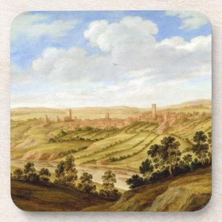 Richmond Castle, Yorkshire, c.1640-41 (oil on pane Drink Coasters