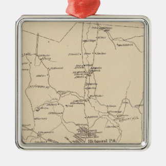 Richmond, Cheshire Co Metal Ornament