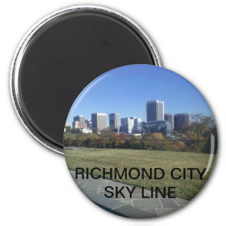 RICHMOND CITY SKY LINE 2 INCH ROUND MAGNET