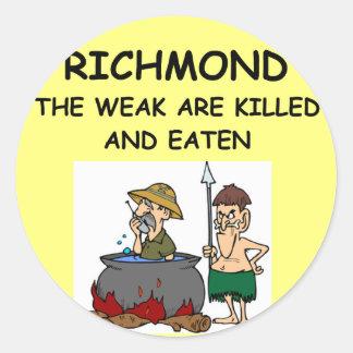 RICHMOND CLASSIC ROUND STICKER