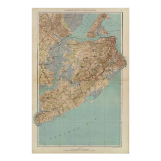 Richmond County and Staten Island Poster