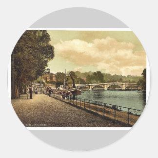 Richmond, el puente, Londres y suburbios, Pegatina Redonda
