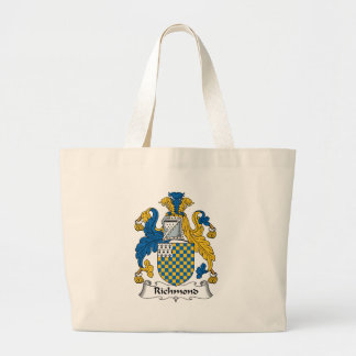 Richmond Family Crest Large Tote Bag