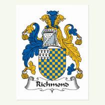 Richmond Family Crest Postcard