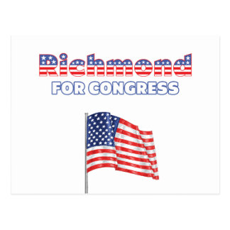 Richmond for Congress Patriotic American Flag Postcard