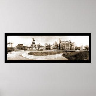 Richmond, foto 1909 del capitolio del VA Póster