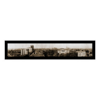 Richmond, foto 1912 del horizonte del VA Póster