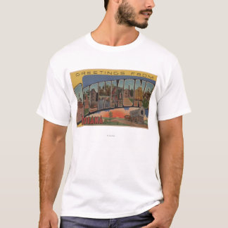 Richmond, Indiana - Large Letter Scenes T-Shirt