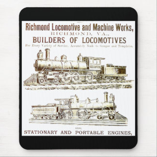 Richmond Locomotive and Railroad Works Mouse Pad