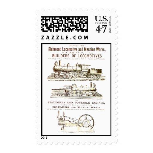 Richmond Locomotive and Railroad Works Postage