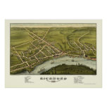 Richmond, ME Panoramic Map - 1878 Print