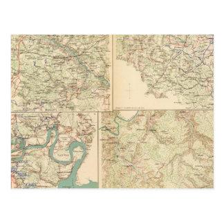 Richmond, Petersburgo, cinco bifurcaciones Tarjetas Postales