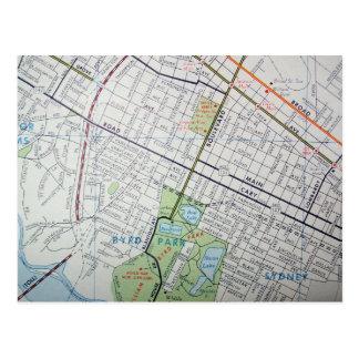 RICHMOND, postal del mapa del vintage del VA