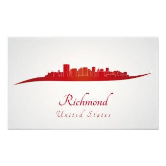 Richmond skyline in red impresiones fotograficas