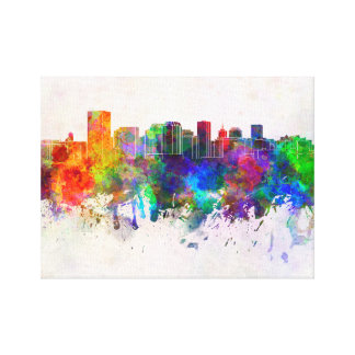 Richmond skyline in watercolor background canvas print