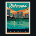 "Richmond, VA Postcard<br><div class=""desc"">Anderson Design Group is an award-winning illustration and design firm in Nashville,  Tennessee. Founder Joel Anderson directs a team of talented artists to create original poster art that looks like classic vintage advertising prints from the 1920s to the 1960s.</div>"