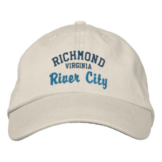 RICHMOND VA River City Embroidered Baseball Caps
