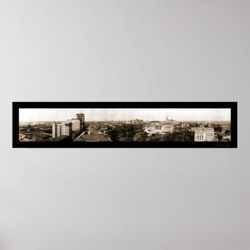 Richmond, VA Skyline Photo 1912 Poster