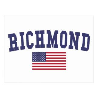 Richmond VA US Flag Postcard