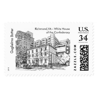 Richmond, VA - White House of the Confederacy Postage Stamp