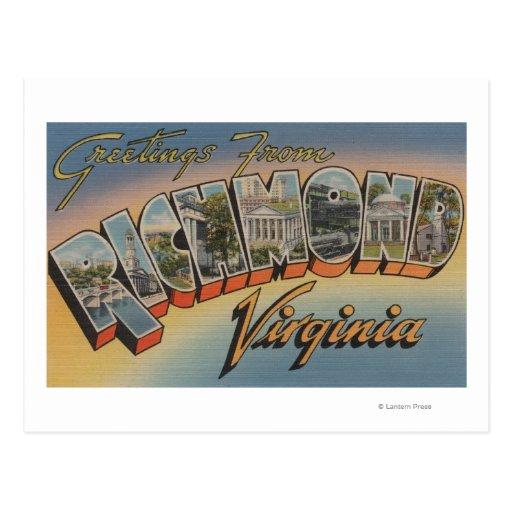 Richmond, Virginia - escenas grandes 2 de la letra Postal
