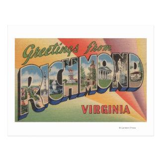 Richmond, Virginia - escenas grandes de la letra Tarjetas Postales