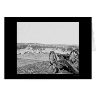 Richmond, Virginia from Bell Isle with Gun 1865 Card