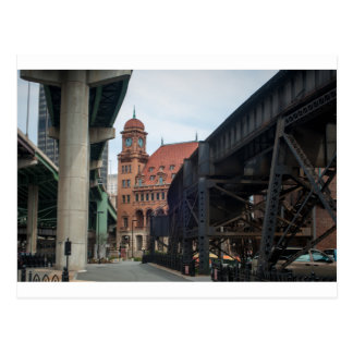 richmond virginia historic downtown near railroad postcard