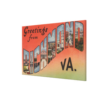 Richmond Virginia - Large Letter Scenes 2 Stretched Canvas Prints