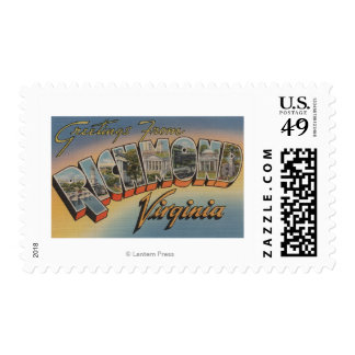 Richmond, Virginia - Large Letter Scenes 2 Postage