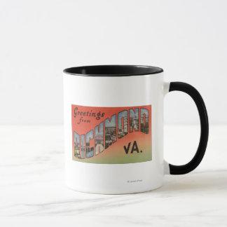 Richmond, Virginia - Large Letter Scenes 3 Mug