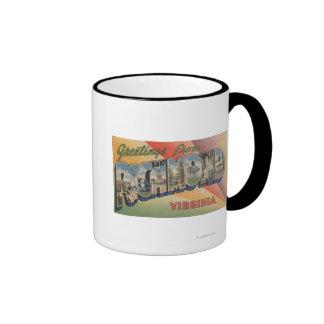 Richmond, Virginia - Large Letter Scenes Mugs
